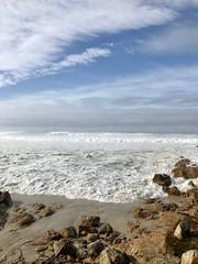Wave Action at Asilomar Beach (skylarprimm) Tags: beach california monterey nature ocean pacific pacificocean rock sand sky water wave ✓