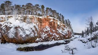 Chilly Winter Day in Kiutaköngäs