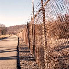 Afternoon fence (rpantaleo) Tags: donora pennsylvania unitedstates us hasselblad film