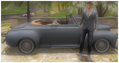 Country stroll (ᗷOOᑎᕮ ᗷᒪᗩᑎᑕO) Tags: mgmens jacket pants soul2soul tmd river sl secondlife flickr virtual catwa con cdc penny classic cars bridge doux deadwool