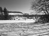 Spuren im Schnee (mm18965) Tags: ulm badenwürttemberg deutschland deu botanischergarten dmcg6 lumixgvario14140mmf3556 lumix14140mm panasonic geo:lat=4842126930 geo:lon=996735692 geotagged steps schritte blackandwhite schwarzweiss michelsberg