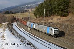 BR 187 308 et 300 à Pfons (A) (passiontrain.ch) Tags: br 187 railpool bombardier lokomotion pfons ferraille autriche brenner österreich schrottzug