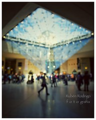 A shower of sparks (Mister Blur) Tags: pyramide inversée inverted pyramid musée louvre museum museo age enlightenment paris france walking blur blurry lights bokeh forlife snapseed nikon d7100 flicker these european cities