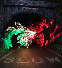 The Battle of Headstone Tunnel (Tom Patterson) Tags: peakdistrict derbyshire countryside outdoors greatoutdoors gb uk greatbritain england monsaltrail monsal steelwool steelwoolspinning wirewool wirewoolspinning longexposure longexpo night nightphotography spinning orb vortex tunnel viaduct cycleway slow lights lightpainting dome sparkler sparklers sparks wands wand lightsaber lightsabre monsalhead headstonetunnel headstoneviaduct