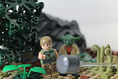LEGO Star Wars | Jedi Training on Dagobah MOC (Izavagooba) Tags: lego star wars jedi training dagobah moc luke rockwork rock work tree technique tutorial