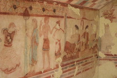 Letto Funebre Tomb - 450BC - Rome Spring 2018 National Etruscan Museum at the Villa Julia. (Kevin J. Norman) Tags: italy rome etruscan villa julia giulia etrusca juliusiii letto tomb