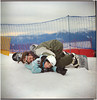 .o snow... after a trailer in the sand (Herr Benini) Tags: kiev88 analog film 6x6 120 snowboard snowboarding teaching fun love
