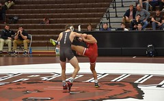 BRO-STA 133 2018-01-13 DSC_8025 (bix02138) Tags: brownuniversity brownbears stanforduniversity stanfordcardinal pizzitolasportscenter pizzitolasportscenterbrownuniversity providenceri january13 2018 wrestling sports intercollegiateathletics athletes jocks ©2018lewisbrianday 133pounds 133 nicklattanze anthonyle