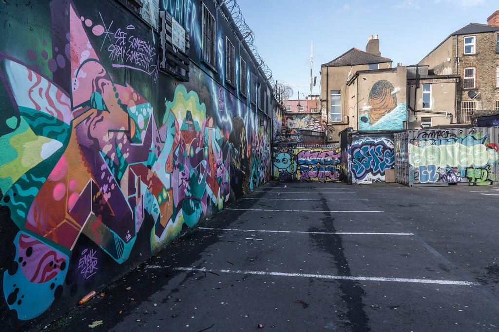 STREET ART AT THE TIVOLI CAR PARK IN DUBLIN [LAST CHANCE BEFORE THE SITE IS REDEVELOPED]-135637