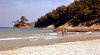 Makriamos Beach, Thassos (1982) (M McBey) Tags: thassos greece makriamos beach holiday sand sun swimmer tourist