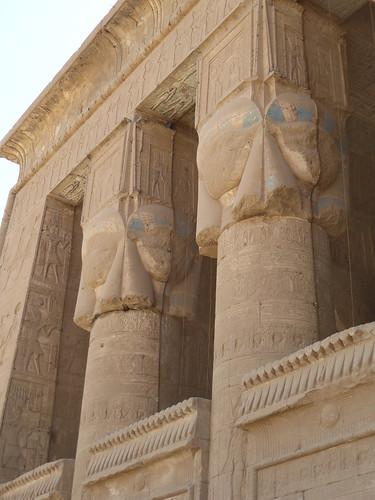 Defaced Hathor Capitals, Dendera