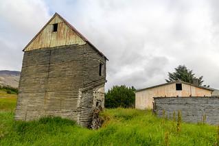 Abandoned houses in Botnsdalur in Hvalfjörður, Iceland