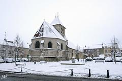 Eglise Saint Etienne XT2 DSCF1133 (mich53 - thank you for your comments and 5M view) Tags: saisons hiver winter 4winter xf1655mmf28rlmwr xt2 manteslaville îledefrance yvelines neige eglise church paysage frankreich france street fontaine