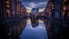 Wasserschloss, Hamburg (KaiHamburg) Tags: hamburg hdr nightshot fujifilm fuji hamburgerfotofreaks