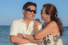 John and Nina (Cris_Pliego) Tags: session beach caribe sunset love family couple happy pose smile holdinghands lookaway solo model kiss birthday hug jump gay