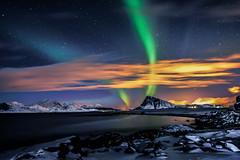 Aurora Borealis above Mt. Offersøykammen in Lofoten islands (steinliland) Tags: auroraborealis northernlights nordlys winter night long exposure