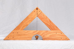 Libella Back (Mark Birkle) Tags: libella level image photo picture wood oak osage horse hair arabian tail triangle medieval tool plumb bob building construction trigonometry gravity geometry practical ancient old concept center string woodworking line past