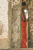 Monk In Pillars (Christoph H-P) Tags: lankatilaka srilanka novice monk pillars ceylon buddha buddhism buddhist religion temple monastery contemplation meditation dhamma sangha orange theravada