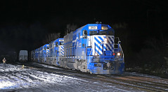 Not 1, not 2, no not even 3 (GLC 392) Tags: glc great lakes central railroad railway train emd gp35 gp382 393 392 390 385 399 owosso san yard mi michigan night time flash photography grain extra ostn smoke snow cold life ann arbor 10th anniversary unit