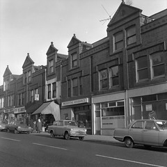 Negative No: 1969-3037 - Negatives Book Entry: 04-12-1969_TP&B_Kravitz Wholesale Shop Cheetham_TP Inquiry (archivesplus) Tags: manchester england 1960s townhallphotographerscollection shop cars assurance ford vauxhall