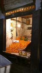 Fes (So Cal Metro) Tags: fes medina orange stand market stall produce morocco maroc