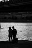 Young couple by the Danube river (Yannis Raf) Tags: canon canon6d canoneos ef24105mmf4 danube budapest hungary bw monochrome mood river light couple