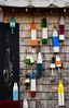 Hangin' wiv da Boyz (Katrina Wright) Tags: dsc5036 buoys pei colours wood wooden paint shutter wall siding