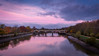 Richmond Lock and Footbridge (Colin_Evans) Tags: night richmond river thames bluehour refelction water