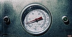Bring On The Heat (MBates Foto) Tags: ambientlight availablelight color existinglight gauge grundge indoors intense nikkorlens nikon nikond810 red thermometer vibrant spokane washington unitedstates 99203