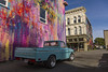Sunday drive (djerniganphoto) Tags: datsun truck humboldt car classic california art color winter driving history mural graffitti