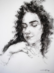 P1017750 (Gasheh) Tags: art painting drawing sketch portrait girl charcoal pencil gasheh 2018