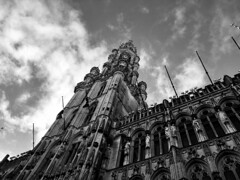 Grand-Place (Alexander Jones - Documentary Photography) Tags: white black monochrome iphone8 8 iphone belgium north grandplace place grand brussels photography cityscape documentary