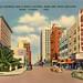 Flagler Street Downtown Miami Vintage Postcard