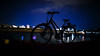 My bike wanted to stay here, but I said no! (FotoTrenz NRW) Tags: nightshot bike bycicle darkness night ruhr dusiburg river waterreflections reflections view meandmybike blue blues