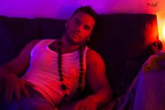 Neon Tattoo (tim_asato) Tags: timasato albertritort lorealonso neon neonlights proyectoares gay gaymagazine tanktop muscl fit fitness model modelos jeans tejanos bicep pecs tattoo tatuaje masculinity masculino jock stud hunk boy chico men man hombre moreno brunette spanish español catalan purple lila pink morado scruff portrait beard beardedmen barba muscle musculo portraite retrato