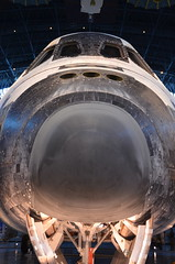Nose of Discovery (afagen) Tags: chantilly virginia smithsonian museum nationalairandspacemuseum udvarhazycenter stevenfudvarhazycenter smithsonianinstitution jamessmcdonnellspacehangar spaceshuttle discovery spaceshuttlediscovery