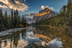 Reflection of Mount Edith Cavell (PIERRE LECLERC PHOTO) Tags: canada alberta sunlight park rocks travel rocky mountains scenery mount rockies forest reflection wilderness outdoors peak jasper adventure glaciers destination cavell natural national edith canadian morning explore scenic nature landscape 5dsr