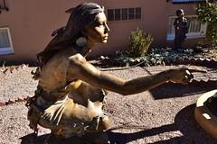 """Clear Vision"" (thomasgorman1) Tags: bronze art statue sculpture gallery southwest american native woman streetphotos nikon garden nm sunlight shadows"