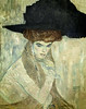'The Black-Feathered Hat' by Gustav Klimt (Greatest Paka Photography) Tags: fashion hat woman femaie art artist gustavklimt museum portrait viennasecession legionofhonor austrian