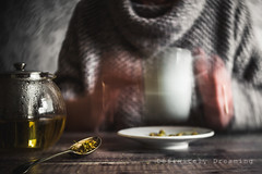 Time For Tea {2} (Janet_Broughton) Tags: lensbaby twist60 blur movement stilllife selfportrait