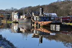 more river reflections (midcheshireman) Tags: river weaver northwich cheshire boat