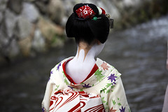 Back and Neck (stevech) Tags: japan kyoto kansai september maiko geisha traditional kimono neck