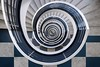 Delta-Lloyd Staircase (Berlin) (Janette Paltian) Tags: janettepaltian canon 650d weitwinkel wideangle berlin germany deutschland treppe wendeltreppe stairs staircase deltalloyd architektur architecture spiral stairway spiralstairs city anchor blue white tiles geometric 1018