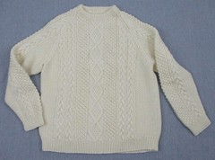 Aran ivory fisherman sweater (Mytwist) Tags: donnaroseresale vtg mens irish 46 chest fishermans cable knit chunky pull over cream sweater aran wool jumper donegal mytwist dublin cabled pattern old passion fisherman style jersey laine handknit aranstyle authentic design fashion fetish craft chunkysweater bulky grobstrick retro timeless handgestrickt handknitted unisex honeycomb winter casual weekend weekendsweater tweed