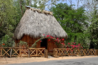 Traditional Mayan house