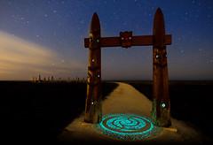 Waharoa waka hourua (ajecaldwell11) Tags: xe3 carving symbols ankh water celestialcompass pou clouds hawkesbay newzealand napier stars path ateaarangi fujifilm gateway caldwell light sky