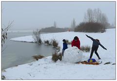 Steady on... (donbyatt) Tags: snow ice furztonlake miltonkeynes people candid