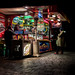 Food stand at night. Como, Italy.