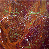 (marygrewart) Tags: painting paint painter acrylic acrylics acrylicpour pour flow splatter minn mn mnartist minnesota minneapolis twincities marygrew pink orange green white