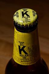 Le K - Dino Buzzati (the.flea) Tags: macromondays myfavouritenovelfiction flea bière beer cerveza bouleille capsule jaune keler